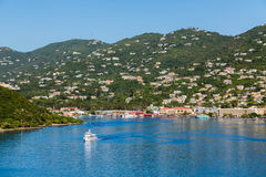 Ferry Crossing Blue Bay of St Thomas Royalty Free Stock Image