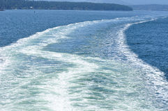Ferry crossing the ocean royalty free stock photography