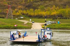 Ferry Crossing the River Royalty Free Stock Photos