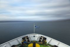 Ferry crossing the sea Royalty Free Stock Photos