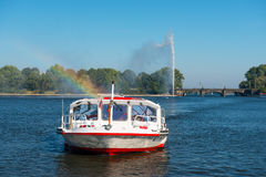Ferry cruise on Alster Hamburg Stock Photography