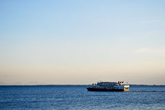 Ferry Cruise on Beautiful Tropical Sea Stock Photography