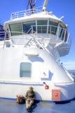Ferry d'abovedeck de fille Photo libre de droits