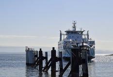 Ferry d'orque de Salish, île de Comox Vancouver Photos libres de droits