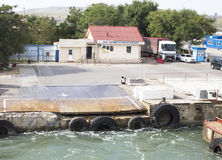 Ferry dans Kerch crimea Photo libre de droits
