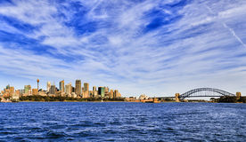 Ferry de cityline de Sy au loin photographie stock