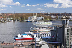 Ferry de la rivière IJ Amsterdam Photos stock