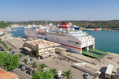 Ferry de Mahon/terminal de port Photographie stock libre de droits