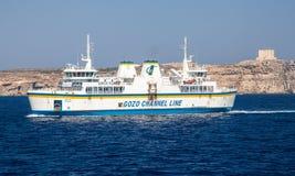 Ferry de Malte à Gozo Images stock