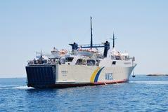 Ferry de proteus, île d'Alonissos Photographie stock libre de droits