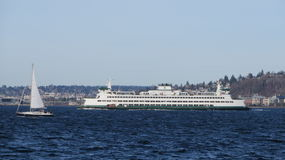 Ferry de Seattle photo stock