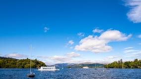 Ferry de Windermere de lac : Mlle Westmoreland Photographie stock libre de droits