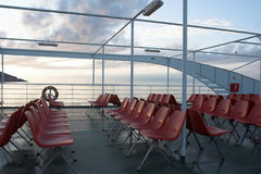 Ferry deck Royalty Free Stock Photo