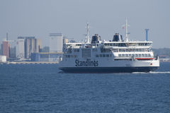 Ferry between Denmark in Sweden Royalty Free Stock Photos