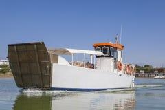 Ferry departs from El Rompido Marina, Huelva, Spain Royalty Free Stock Photo