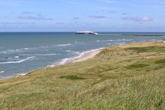 A ferry departs from Hirtshals, Denmark. Stock Photography