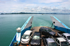 Ferry departs Koh Chang Island Royalty Free Stock Image