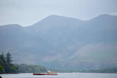 Ferry on Derwentwater stock image