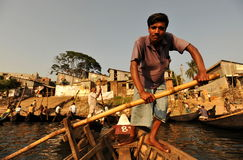 Ferry in Dhaka. Small ferry boat are operating in old Dhaka across the Buriganga river Stock Photography