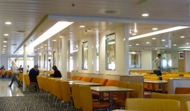 Ferry dining area Stock Image
