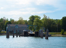 Ferry dock on lake Royalty Free Stock Images