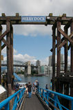 Ferry dock and passengers on Granville Island Stock Photos