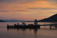 Ferry Dock Sunrise Stock Image