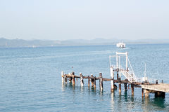 Ferry dock at thailand Stock Image