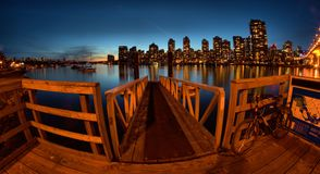 Ferry dock in Vancouver Canada. Night view of ferry dock in Vancouver Canada Stock Image