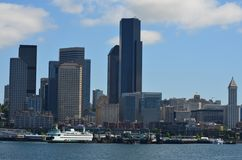 Ferry docked Royalty Free Stock Photos