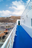 Ferry docked in Mykonos island Stock Images