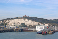 Ferry in Dover Harbour Stock Photography