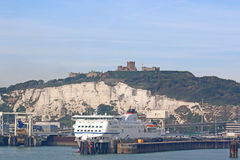 Ferry in Dover Harbour. Passenger ferry in Dover harbor, England Royalty Free Stock Photos