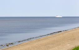 Ferry in the dutch Waddensea stock photos