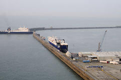 Ferry entrance in english channel Royalty Free Stock Photography