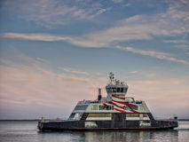 Ferry from Esbjerg to Fano in the wadden sea Royalty Free Stock Image