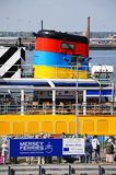 Ferry at Ferry Port, Liverpool. Stock Photos