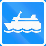 Ferry In Finland Royalty Free Stock Image