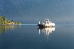 Ferry on the fjord, Norway Royalty Free Stock Photo