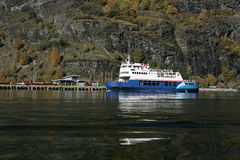 Ferry at flam Royalty Free Stock Image