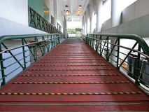 Ferry Gangway. Hong Kong, July 2016 - Ferry gangway leading to the ferry going to Cheung Chau Island, Hong Kong Royalty Free Stock Images