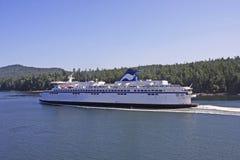 Ferry in the Georgia Strait Royalty Free Stock Photo