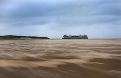 Ferry going to Texel, Netherlands royalty free stock images