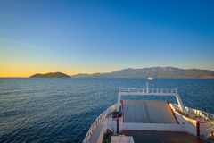 Ferry going to Thassos island, Greece Stock Photos