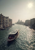 Ferry on Grand Canal in Venice Royalty Free Stock Images