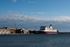 Ferry on the gulf Stock Photography