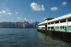 Ferry habour. It is a ferry habour in hong kong Royalty Free Stock Photo