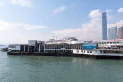 Ferry harbour in Hong Kong Royalty Free Stock Photography