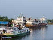 The Ferry Harbour in Sittwe, Myanmar Stock Photos