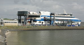 Ferry in the harbour Royalty Free Stock Photos